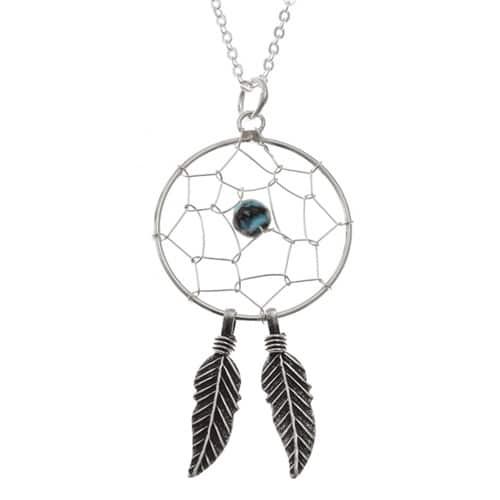 Dream catcher pendant necklace sterling silver natural vibrations mozeypictures Images